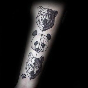 Bear-Panda-Wolf Tattoo
