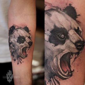 Angry Panda Tattoo