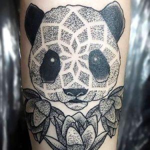 Dotted Panda Tattoo