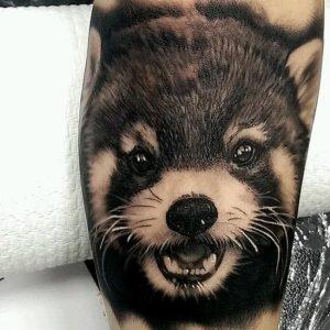 Realistic Red Panda Tattoo