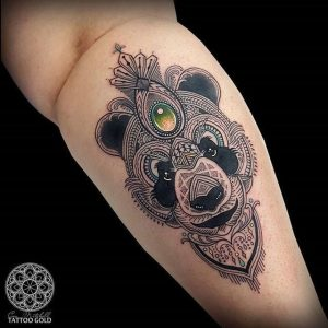 Mosaic Panda Tattoo