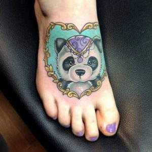 Foot Panda Tattoo