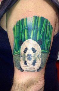Bamboo And Panda Tattoo